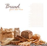 Composition with bread Stock Image