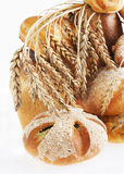 Composition with bread on light background Royalty Free Stock Images