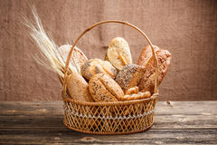 Composition with bread and rolls Royalty Free Stock Image