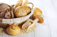 Composition with bread and rolls Stock Photo