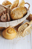 Composition with bread and rolls Royalty Free Stock Photography