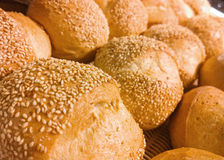 Composition with bread and rolls Stock Photos