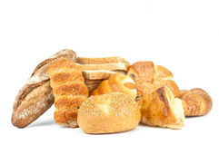 Composition with bread and rolls Royalty Free Stock Photo