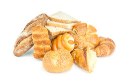 Composition with bread and rolls Stock Photography