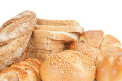 Composition with bread and rolls Royalty Free Stock Images