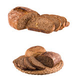 Composition with bread and rolls on wicker rug Stock Photography