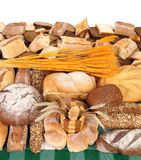 Composition of breads. Close up. Stock Photos