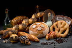 Composition of breads Stock Photos