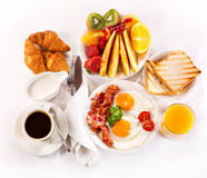 Composition with breakfast on the table Stock Photography