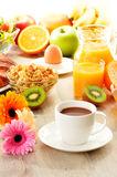 Composition with breakfast on the table Royalty Free Stock Image