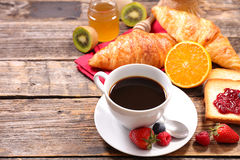 Composition of breakfast Stock Image