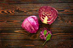 Composition with cabbage. Food composition with cabbage on texture background Stock Photography
