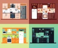 Composition carrée intérieure en cuisine Image stock