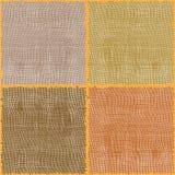 Composition carrée sans joint. Textures de toile. Photo libre de droits
