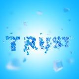 Composition cassée d'abrégé sur confiance Images libres de droits