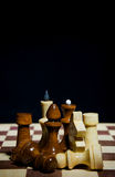 Composition of chess pieces Royalty Free Stock Image