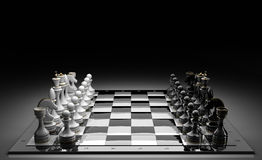 Composition with chessmen Stock Images