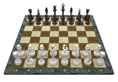 Composition with chessmen Royalty Free Stock Images