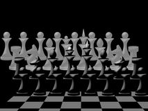 Composition of  chessmen on chessboard Stock Images