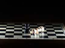 Composition with chessmen Stock Photo