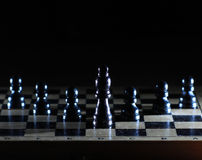 Composition with chessmen Royalty Free Stock Photography