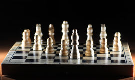 Composition with chessmen Royalty Free Stock Photo
