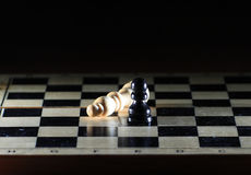Composition with chessmen Stock Photos
