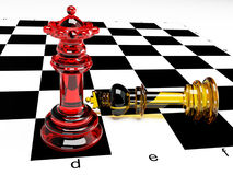 A Composition with chessmen Royalty Free Stock Images