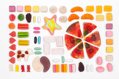 The composition of chewing candies Stock Image