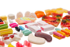 The composition of chewing candies Royalty Free Stock Image