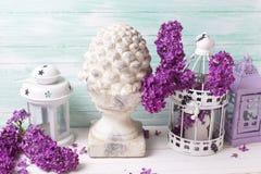 Composition chic minable en fleurs Photographie stock libre de droits