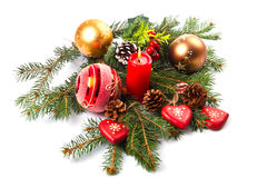 Composition of the Christmas decorations Royalty Free Stock Photography