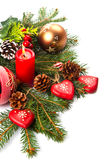 Composition of the Christmas decorations Royalty Free Stock Images