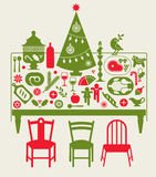 Composition with Christmas dinner Royalty Free Stock Photo