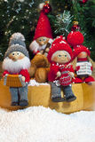 Composition of Christmas Figurines Stock Photos