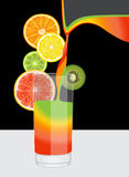 Composition of citrus fruits Stock Photo