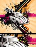 Composition classique de vecteur de véhicule illustration stock