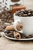 Composition of coffee accesories Royalty Free Stock Photography