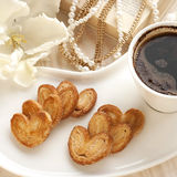 Composition with coffee and  cookies Royalty Free Stock Image