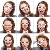 Composition or collage of different lot expressions Stock Photos