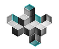 composition colorée abstraite en losange 3d d'isolement sur le fond blanc illustration stock