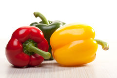 Composition of colored peppers Stock Photography
