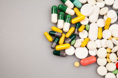 Composition with colorful pills Stock Images