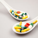 Composition with colorful pills Stock Image