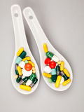 Composition with colorful pills Royalty Free Stock Image
