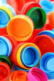 Composition with colorful plastic bottle caps Royalty Free Stock Image
