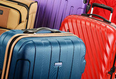 Composition with colorful travel suitcases Stock Image