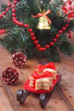 Composition cookies and Christmas tree Royalty Free Stock Images