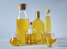 Composition with cooking oil Stock Image