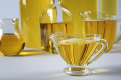 Composition with cooking oil Royalty Free Stock Photo